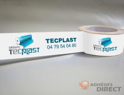 Ruban adhesif personnalisé PP acrylique imprimé 2 couleurs - 50mm x 66m - scotch couleur - scotch personnalisé
