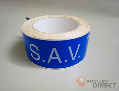 Ruban adhésif personnalisé PP HR silencieux imprimé 1 couleur - 50mm x 66m - ruban adhésif personnalisé - scotch personnalisé