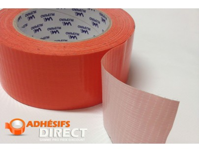 Adhésif Toilé Orange - 48mm x 33m  - rouleau adhesif - ruban adhesif - scotch couleur