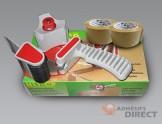 Kit complet : Dévidoir + Adhésif  d'emballage havane 50mm x 100m - rouleau adhesif - ruban adhesif