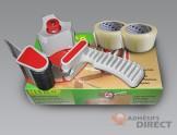 Kit complet : Dévidoir + Adhésif  transparent d'emballage  50mm x 100m - rouleau adhesif - ruban adhesif