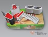 Kit complet : Dévidoir + Adhésif d'emballage  blanc 50mm x 100m - rouleau adhesif - ruban adhesif