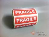 """Etiquette de signalisation autocollante """"FRAGILE"""" - 148mm x 48mm"""