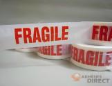 "Adhésif d'emballage PP imprimé ""FRAGILE"" - rouleau adhesif - ruban adhesif"