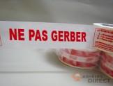 "Adhésif d'emballage PP imprimé ""NE PAS GERBER"" - rouleau adhesif - ruban adhesif"
