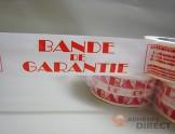 "Adhésif d'emballage  PP imprimé ""BANDE DE GARANTIE"" - rouleau adhesif - ruban adhesif"