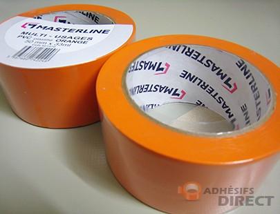Adhésif PVC Orange - 50mm x 33m - rouleau adhesif - ruban adhesif