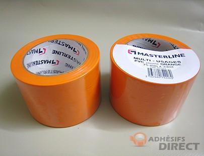 Adhésif PVC Orange - 75mm x 33m - rouleau adhesif - ruban adhesif